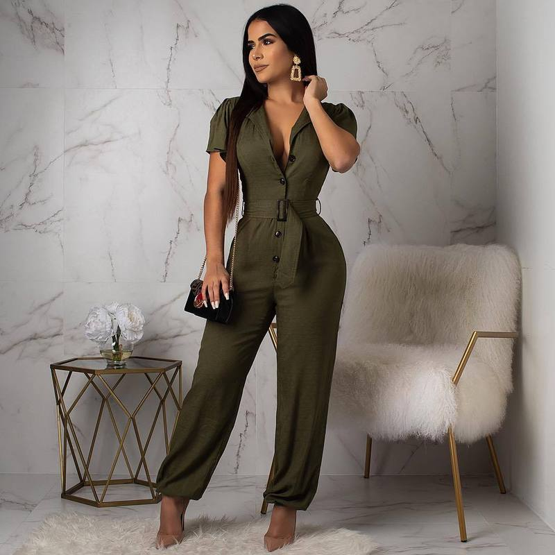 Rompers Womens Jumpsuit Plus Size Overalls For Women Summer Clothing Ladies Jumpsuits Long Pants Elegant Bodycon One Piece Outfi
