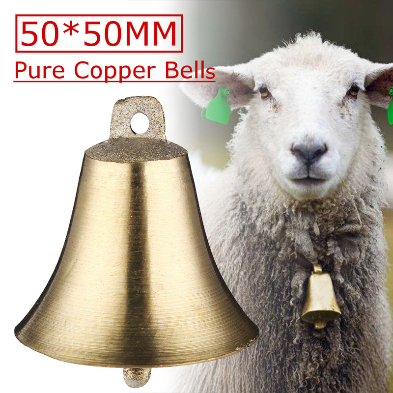 1PCS Sheep Copper Bells Livestock Animal Husbandry Copper Bells Sound Loud Brass Bell Cow Copper Bells Loud Crisp Farther