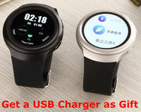 X3 Smart watch Phone Android 4.4 MTK 6572 Dual core circular screen AppStore Heart Rate Pedometer 3G WCDMA SIM card BT GPS WIFI