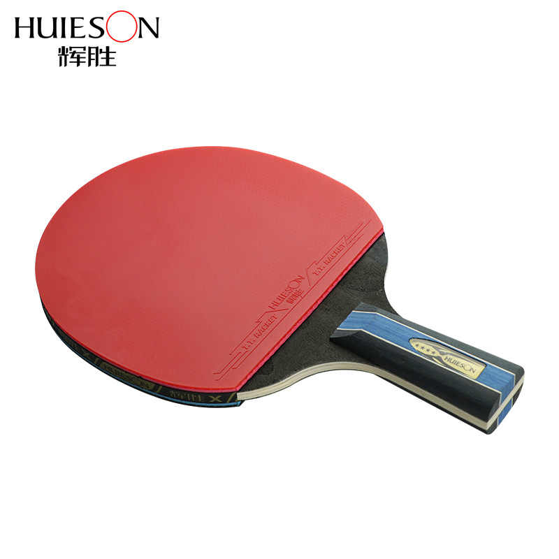4 Star Short or Long Handle Shake-hand Table Tennis Set Red and Black Table Tennis Paddle Table Tennis Racket with Case