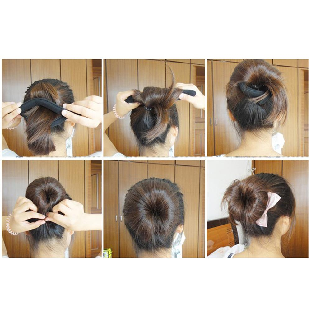 High Quality New 4 Pcs 46g Foam Sponge Bun Hair Twist Clip Hairstyle Maker Former for Women