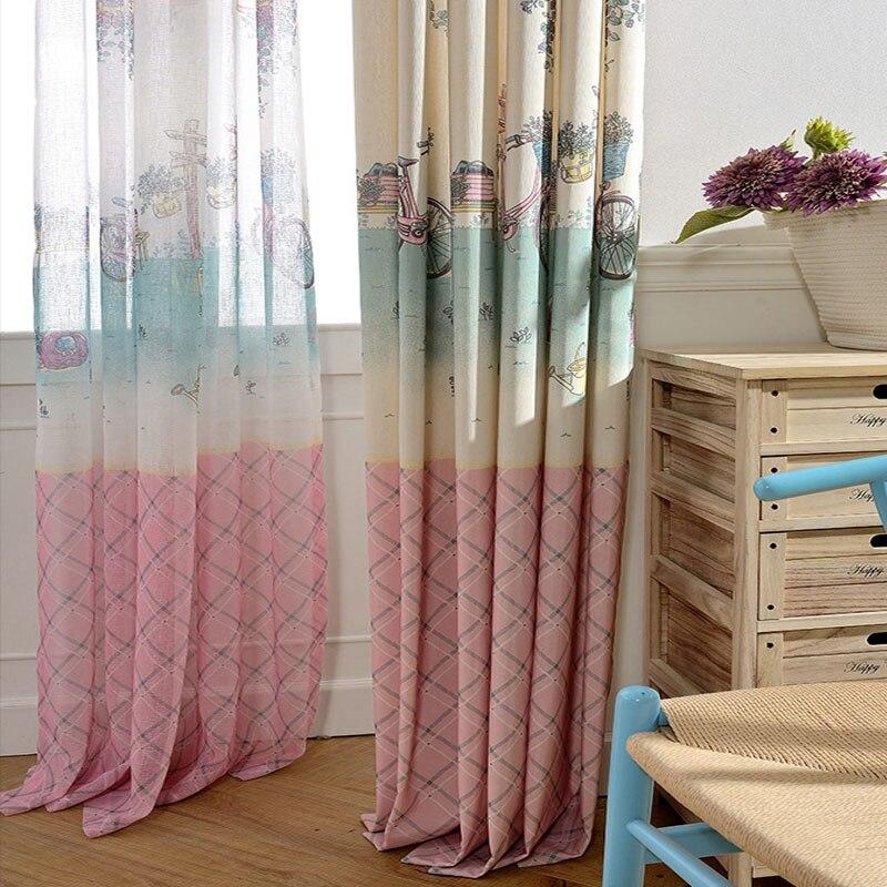 Curtains For Baby Girl Nursery: Cartoon Princess Curtains Kid Curtain Fabric Living Room
