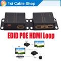 Hdmi extender 50 m con ir con solo cat5e/6 cable caja de metal con adaptador de corriente