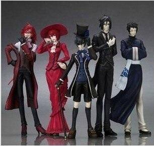 Japanese Anime Kuroshitsuji Black Butler Characters Figure 6 Sets Birthday Gift