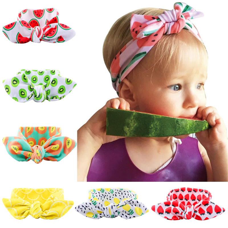 New Fashion Fruit Headband Watermelon Headband DIY 4 Style Elastic Head Rope Lemon Pineapple Watermelon Strawberry Headbands