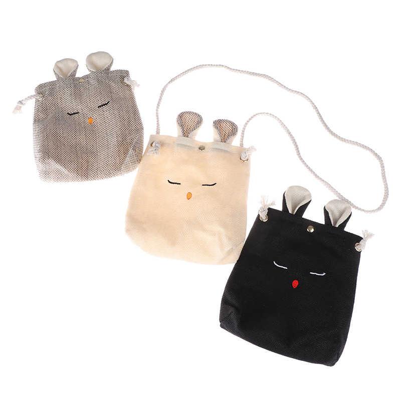 1 Uds Venta caliente lindo conejo oreja bolso de mano compras bolsa de transporte bolso de hombro de yute Vintage