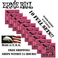 10แพ็คเออร์นี่บอลซูเปอร์S Linky. 009-. 042สายกีต้าร์ไฟฟ้า2223นิกเกิลแผลชุด(10เซ็ต)