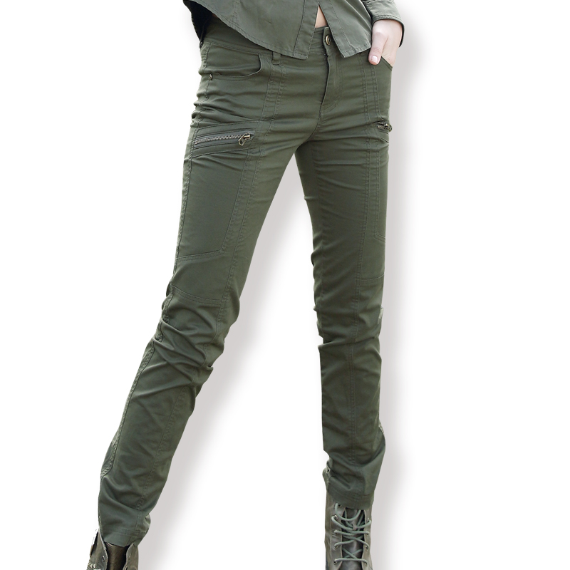 794787b55b3da Free Army Style Women's Long Pants Army Green Casual Pencil Slim Trousers  For Woman Summer Leggings Pants Clearance Sale