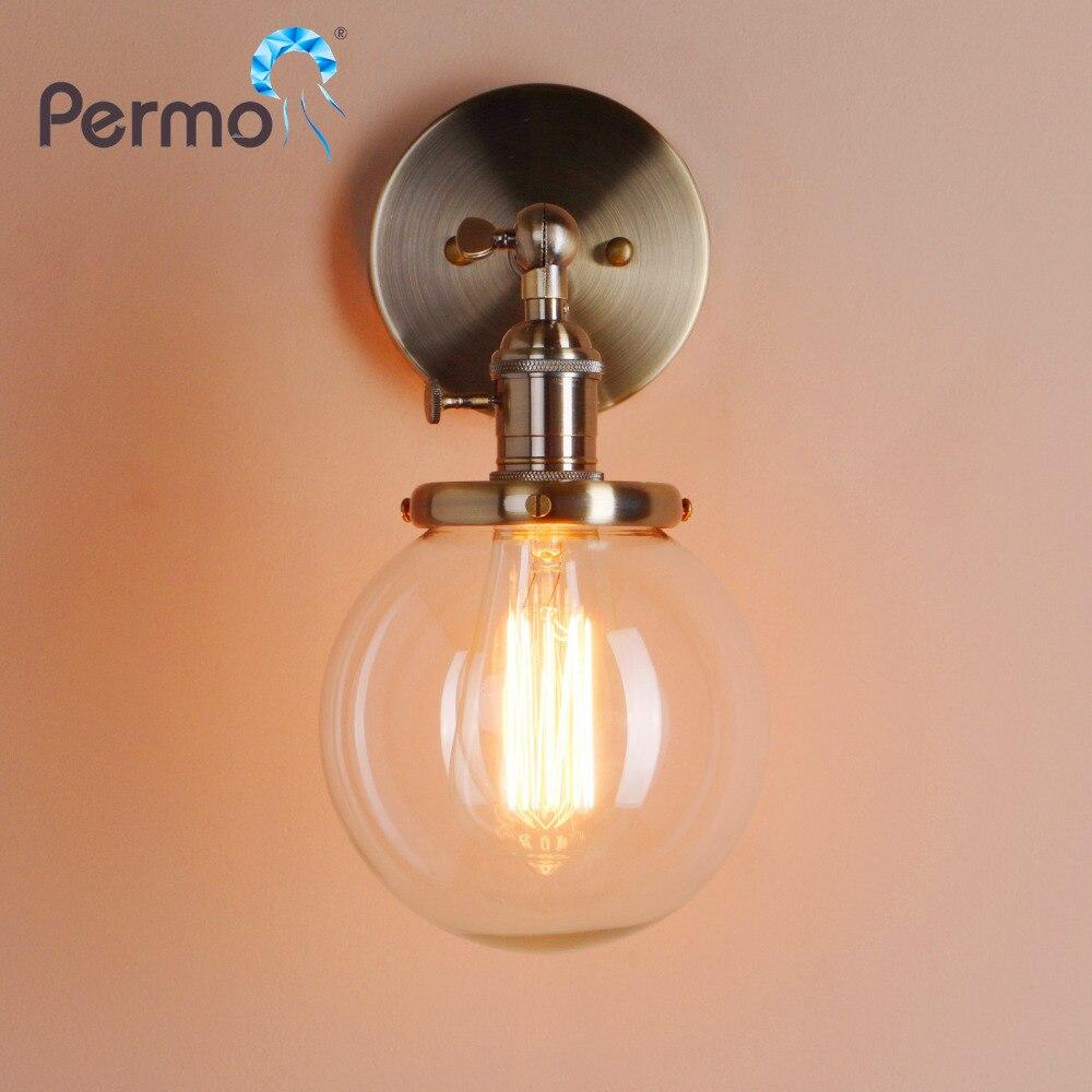 Permotriassischen 5,9 ''Vintage Wand Lampe Moderne Glas Wand Leuchte Wand Leuchten leuchte Loft Nacht Spiegel Lampe Treppen Lichter