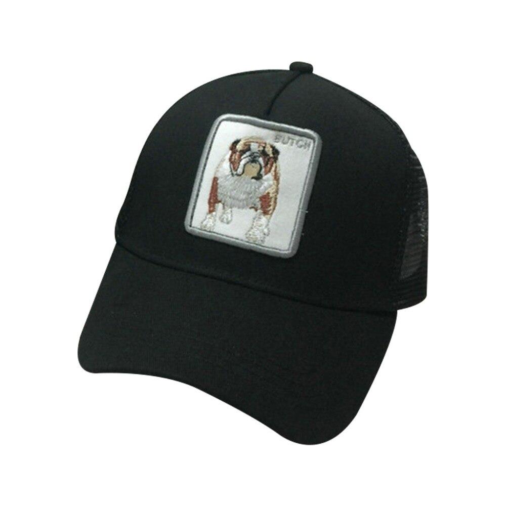 Мужчины женщины пары летние Бейсбол Кепки Животные вышитые патч хип хоп сетки лоскутное Регулируемая шляпа для стрельбы 7 видов стилей