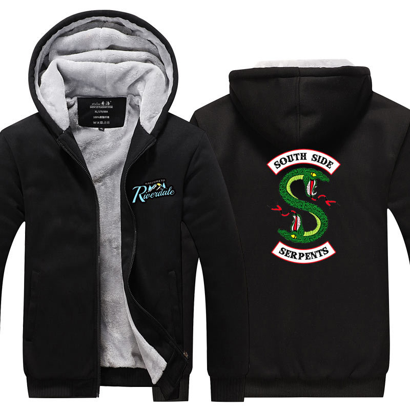 New Arrival Riverdale Southside Serpents Female Cosplay Costume Hoodies Sweatshirt Men Women Warm Jacket Hip Hop Costume