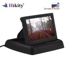 """Hikity Monitor Do Carro 4.3 """"Display para Câmera de Visão Traseira Dobrável Display LCD TFT a Cores de Vídeo PAL/NTSC Auto estacionamento Retrovisor Backup"""