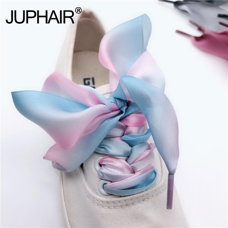 Fashion Flat Silky Pink Satin Ribbon Shoe Laces NEW 1 Pair