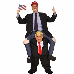 Image 1 - Donald Trump Pants Party Dress Up Ride On Me Mascot Costumes Carry Back Novelty Toys Halloween Party Fun Cosplay Clothes Disfraz