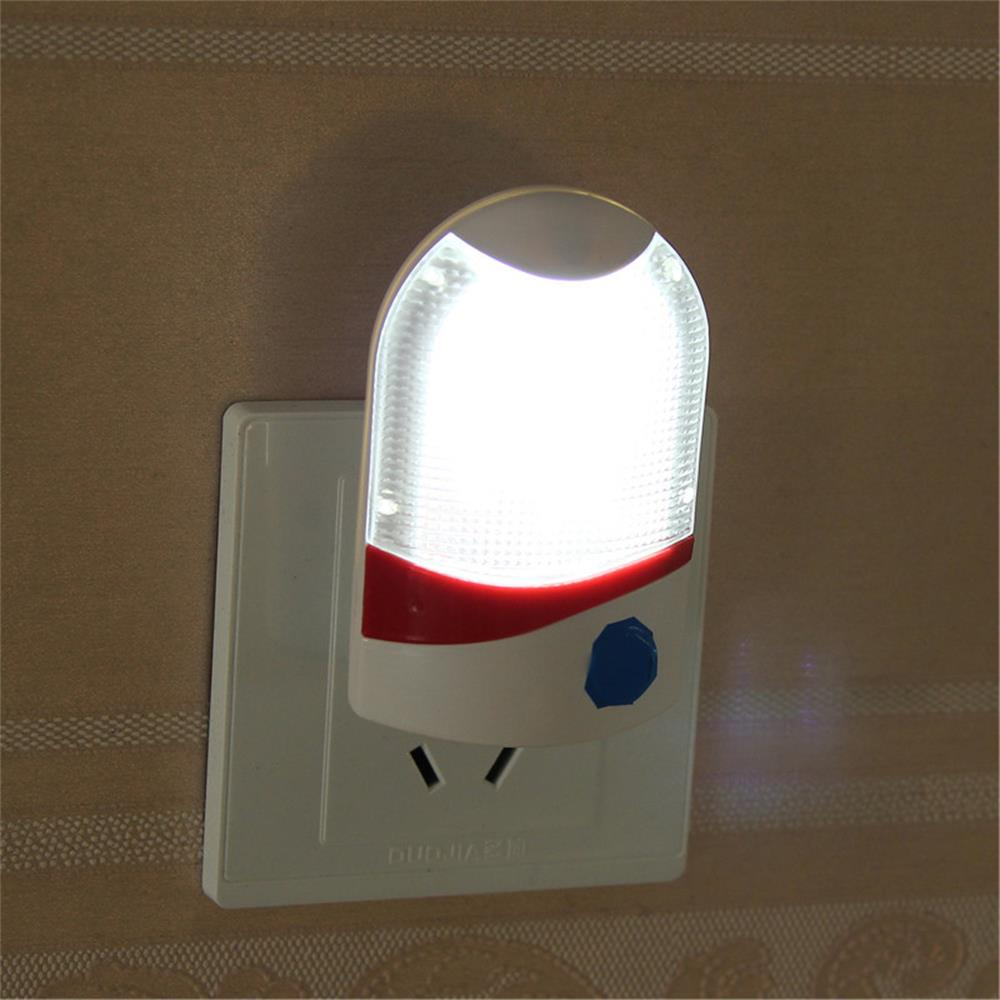 LED Night Light Lamp AC 110V 220V Light Sensor Auto Baby Room Bedroom Automate Night Lights US PLUG Wall Lamp For Child Gifts