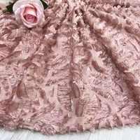 BEAUTIFICAL tessuto Africano del merletto di vendita calda del merletto tessuto francese del merletto prezzo a buon mercato tessuto Chiffon per la cerimonia nuziale 5 yards/lot JYN302