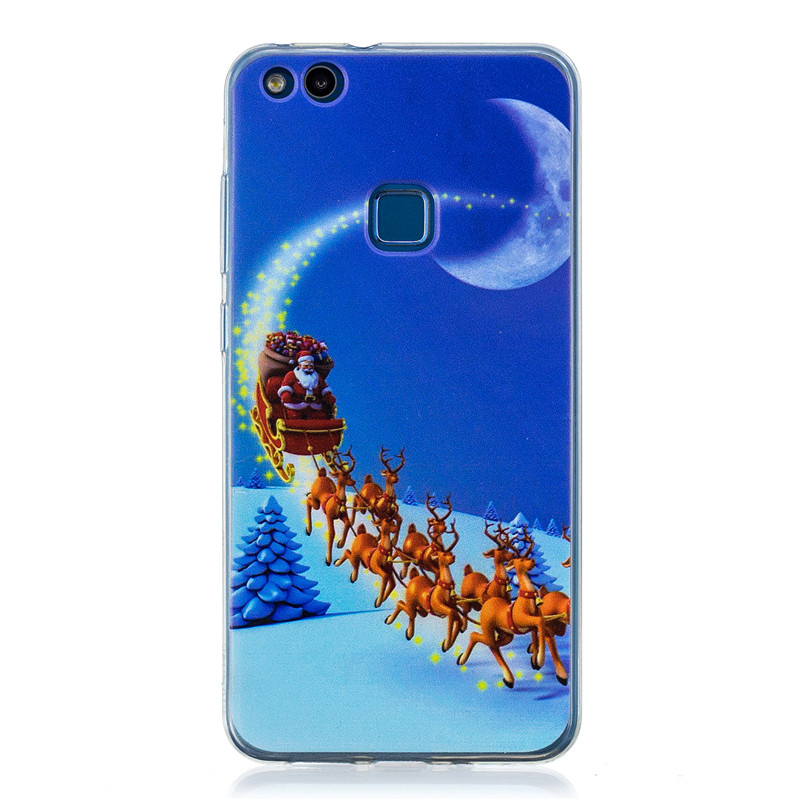 TPU Phone Cases For P10 Lite Case Santa Claus Christmas Silicone Case For Huawei P10 Lite Back Case