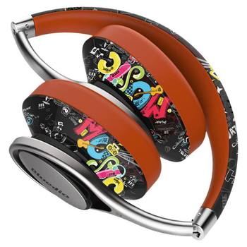Graffiti style Bluetooth Headphones Over Ear with Carring Case 3D Stereo Lightweight Stylish Wireless Headset with Microphone