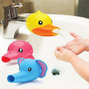 Cute Duck Bathroom Sink Faucet Chute Extender Crab Children Kids Kitchen Washing Hands Convenient For Baby Washing Helper