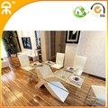 ( 1 + 6 стул / много ) стекло обеденный стол для столовой # CET011