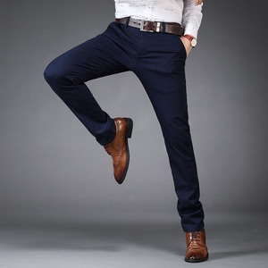 Image 4 - NIGRITY nuovi pantaloni Casual da uomo Casual pantaloni da lavoro tasche dritte regolari pantaloni classici pantaloni elasticizzati uomo taglia grande 28 42
