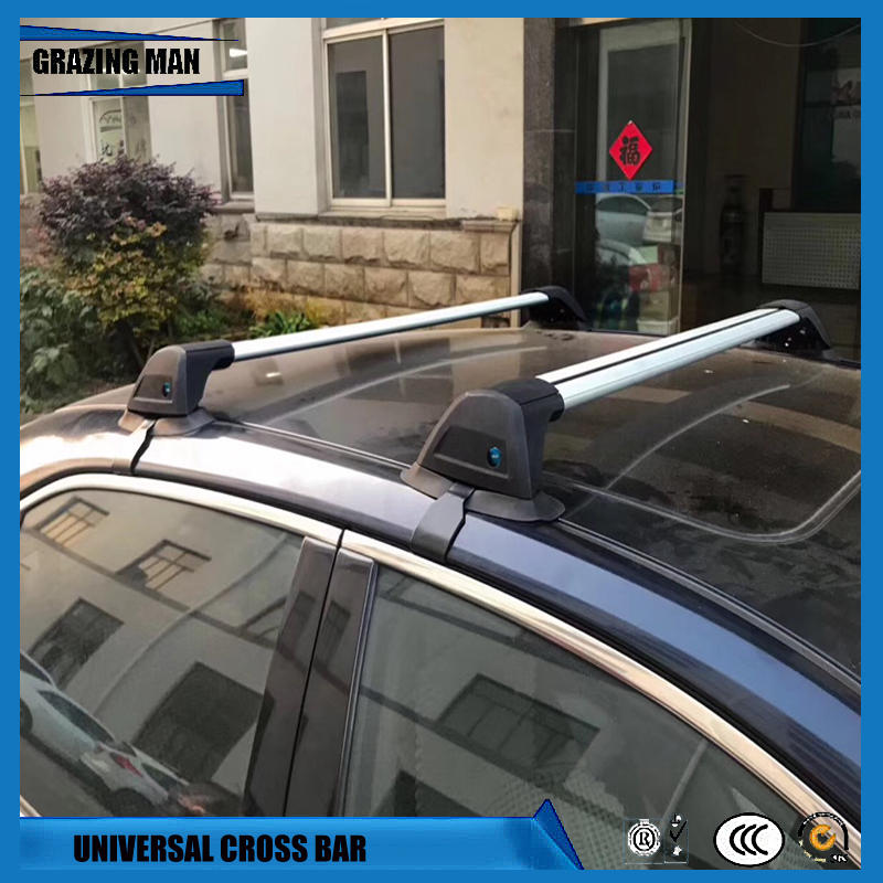 2 PCS Aluminium Alloy Roof Rack Rail Lamp Tie Cross Bar Shelf Universal Luggage Carrier