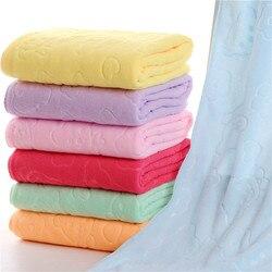 Tamanho grande 140x70cm microfiber praia toalha de banho banheiro lavagem pano limpo praia secagem toalha de banho casa têxtil 1 pc