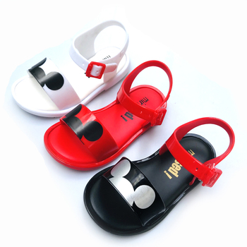 Mini Melissa2019 New Mickey Girl Sandals Jelly Sandals Children's Beach Shoes Cartoon Girl Shoes Minnie Melissa Shoes