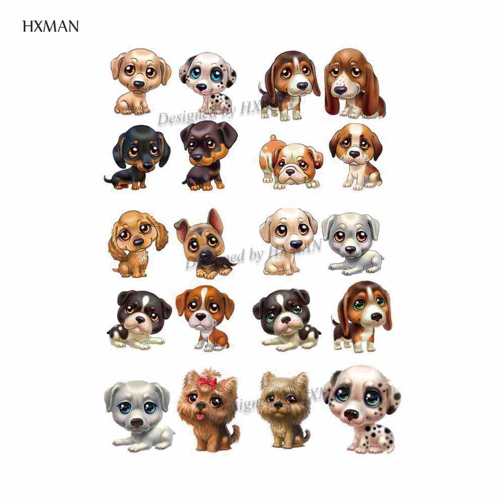 HXMAN Dog Animal Temporary Tattoo Sticker Waterproof Women Fashion Fake Body Art 9.8X6cm Kids Hand Tattoos Hot Design A-154