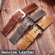 High-end leather watch strap double-sided leather leather leather thin boat-fruited sterculia