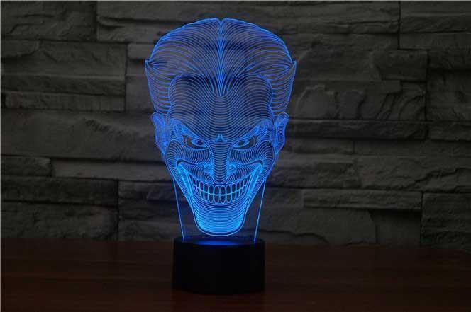 Светодиодный сенсорный lampLED лампы Джокер Бэтмен Темный DC 3D акрил LED 7 цветов ночник сенсорный настольные лампы