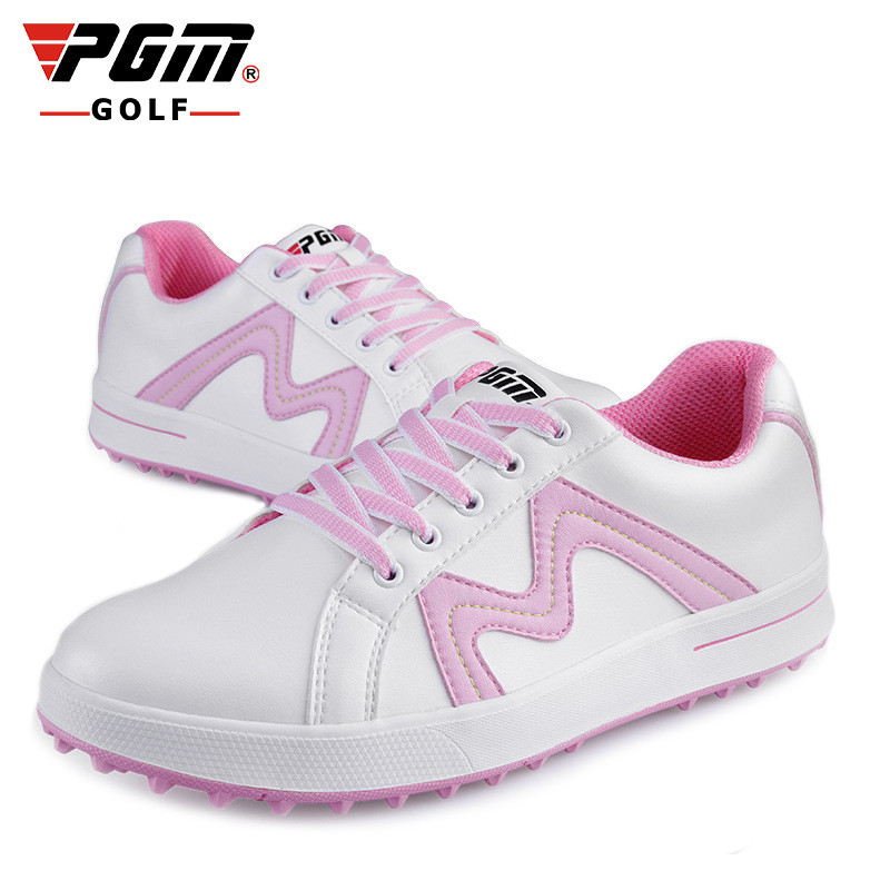 PGM Women Golf Genuine Leather Shoes Outdoor Sports Waterproof Breathable Shoes Ultralight Water non-slip No Spikes Golf ShoesPGM Women Golf Genuine Leather Shoes Outdoor Sports Waterproof Breathable Shoes Ultralight Water non-slip No Spikes Golf Shoes