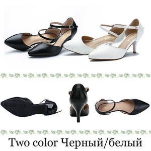 Image 3 - Женские кожаные сандалии Yalnn, на высоком каблуке, с ремешком на щиколотке, для вечеринок, большие размеры 34 43, 2019