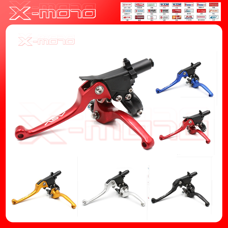 Aluminum CNC ASV 2ND Folding Clutch And Brake Lever For Dirt Bike Pit Bike Universal Spare Parts asv clutch and brake folding lever for dirt bike pit bike off road motorcycle motocross spare parts