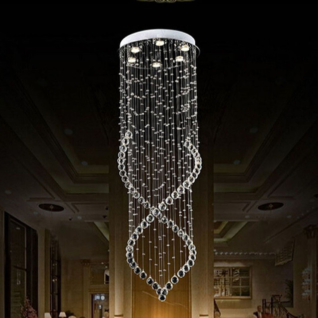 Best Price Modern Crystal Chandelier Light Fixture Duplex Stairs Led Lamp For Ceiling Villa Hall