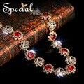 Special Новая Мода Люкс Maxi Ожерелье Красный Циркон Шарм Ожерелья Золото Заявление Ожерелья Подвески Ювелирные Изделия для Женщин XL141136