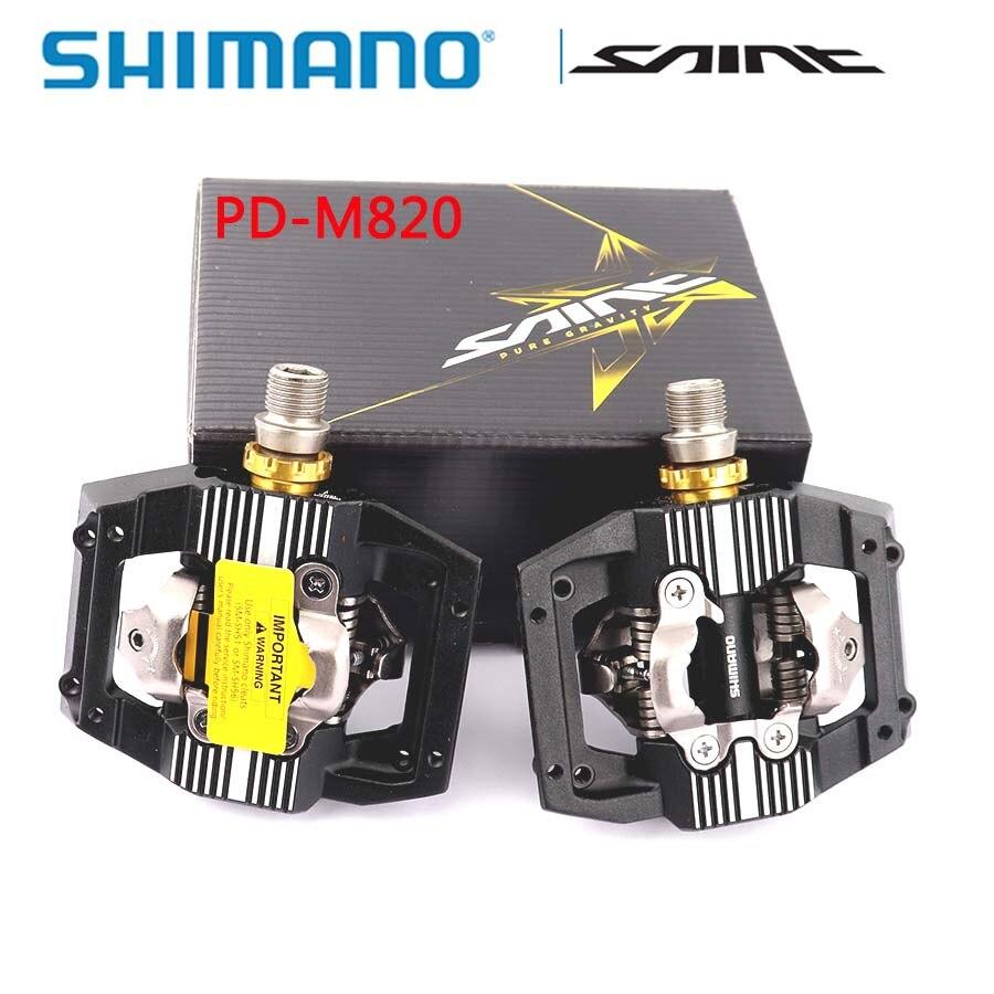 SHIMANO SAINT PD-M820 SPD pédale XC/DH descente Enduro SPD VTT pédale boîte d'origine comprend des accessoires de vélo de SM-SH51