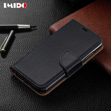 IMIDO Luxury Leather Flip Phone Case For Redmi Note7 7 6 6A Pro Wallet Card Stand Bracket Back Cover Coque