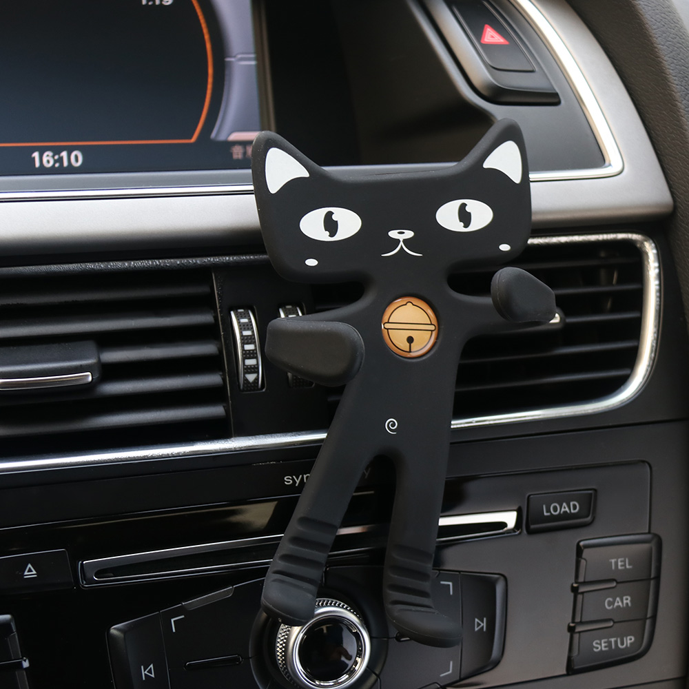 Universal  Fashion Cute Car Phone Holder Silicone Mobile HolderCar Air Vent Mount Stand Flexible Soft Rubber Cat Car Holder thumbnail