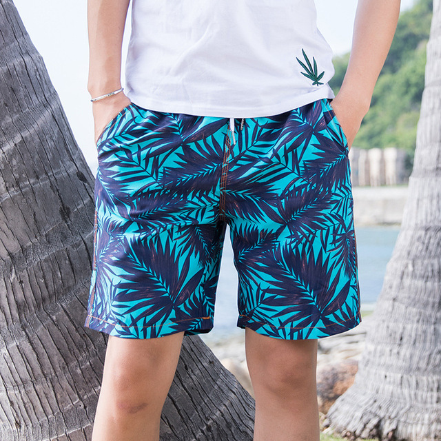 Beach Shorts Men Swimsuit Swimwear Quick Dry Print Surf Short De Bain Homme Board Shorts Men's Swimming Suit L-3XL