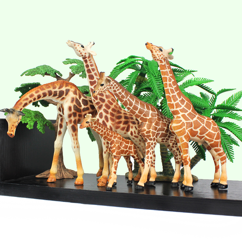 Wiben Hot toys Wild African Simulation Giraffe Animals Model Solid PVC Action & Toy Figures toys for children Boys Collection mr froger bengal white tiger model toy wild animals toys set zoo modeling plastic solid classic toy children animal models cute
