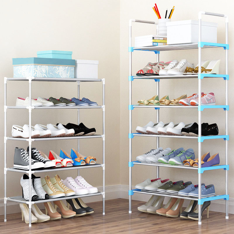 Hot Sale Shoe Rack Easy Assembled Plastic Multiple layers Shoes Shelf Storage Organizer Stand Holder adjustable shoe stand chrome metal wardrobe 2 layers rolling wheels storage rack 36x18x72 hot sale