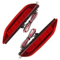 2 Pcs Car Rear Brake Lights Bumper LED Warning Lamp For Kia Rio K2 Sedan 2011