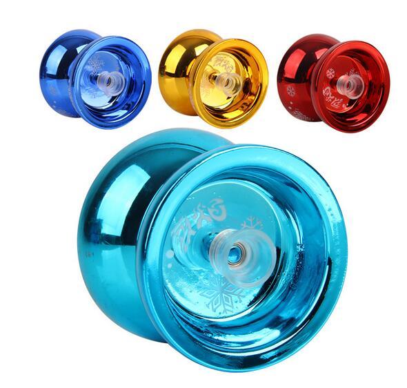 Aleación de aluminio de alta calidad metal yoyo profesional rodamiento con cadena niños Juguetes yoyo para regalo