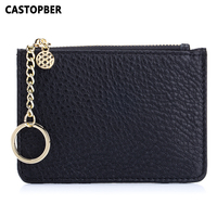 Fashion Coin Purse Women Small Wallet Mini Wallets Women Cowhide Genuine Leather High Quality Korean Style