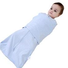 ФОТО 66Cm    Soft Cotton Gauze born Baby Sleeping Bags Cocoon Sleepsacks Envelope Infant Baby Anti-startle Wrapped Cloth