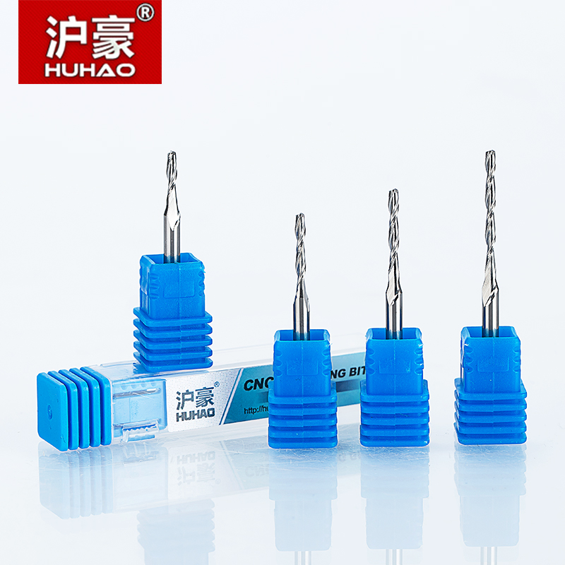 HUHAO 1 st 3.175mm 2 Fluit Spiraal Frees CNC frees voor hout Acryl PVC MDF Frees Wolfraamcarbide Goed