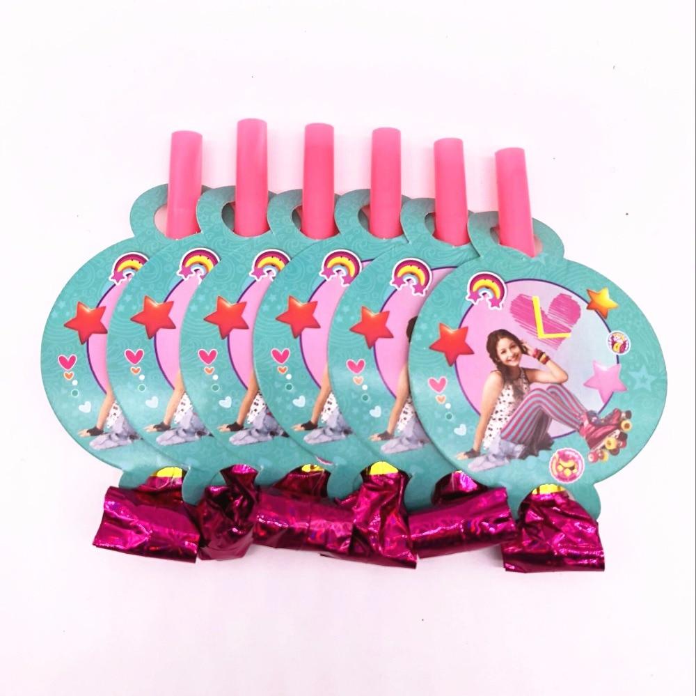 6 шт. дети День рождения украшения соевый Luna забавные дует дракона выброса день рождения поставки
