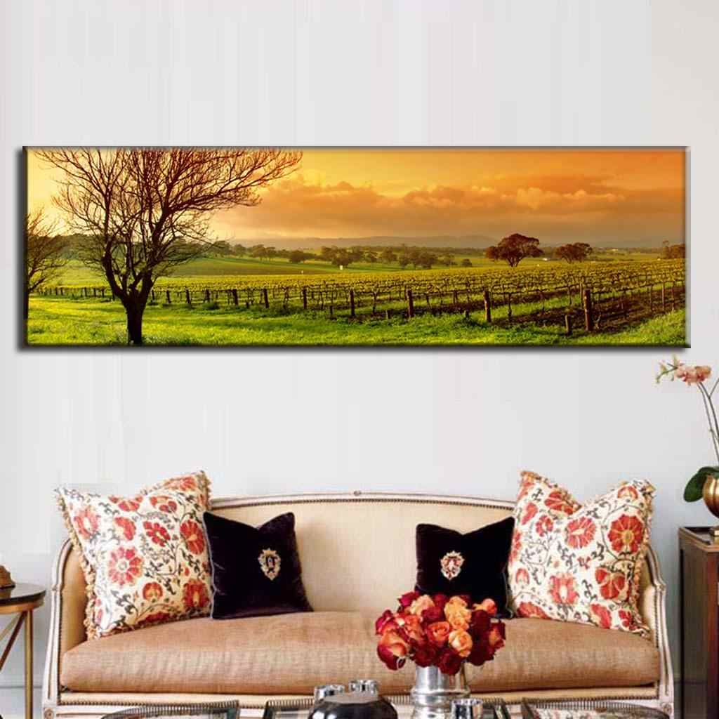 Large Picture Autumn Farm Canvas Printings Natural Landscape Canvas Wall Art Decorative Painting for Bedroom Home Decor Unframed
