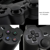 Vibration Joystick Wired USB PC Controller For PC Computer Laptop For WinXP/Win7/Win8/Win10 For Vista Black Gamepad 5